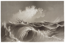 Storm at Sea engraving