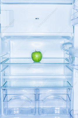 Apple in a fridge