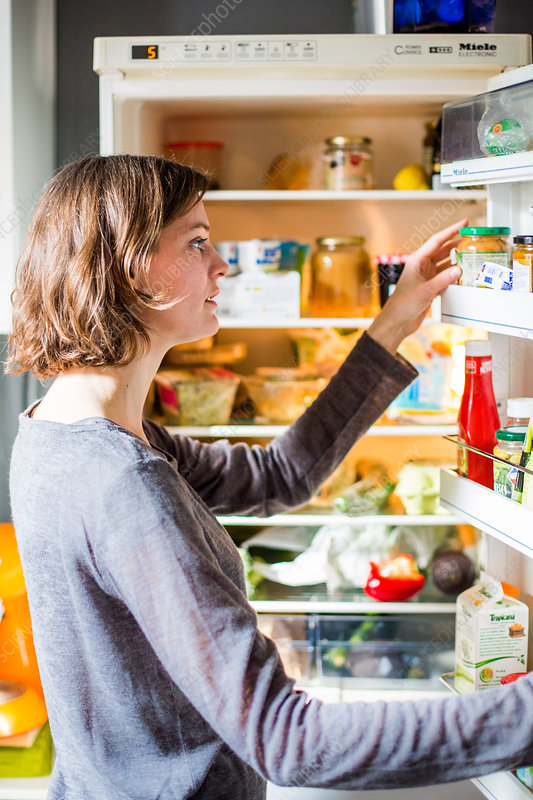 Woman checking the nutrition facts
