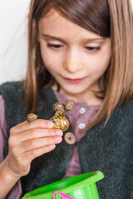 Child and snail
