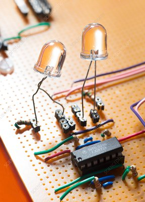 LEDs on circuit board