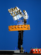 Laser-operated robotic hand