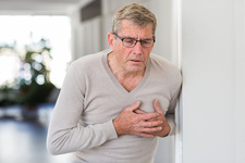 Man suffering from a mild heart attack