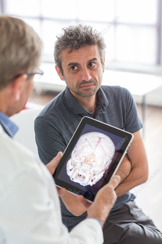Doctors using tablets