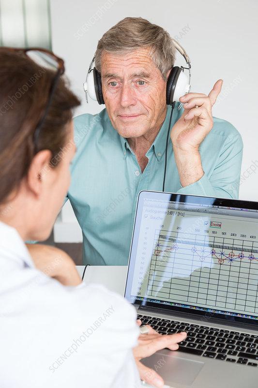 Audiometry test