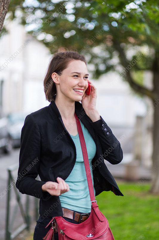 Woman using cell phone