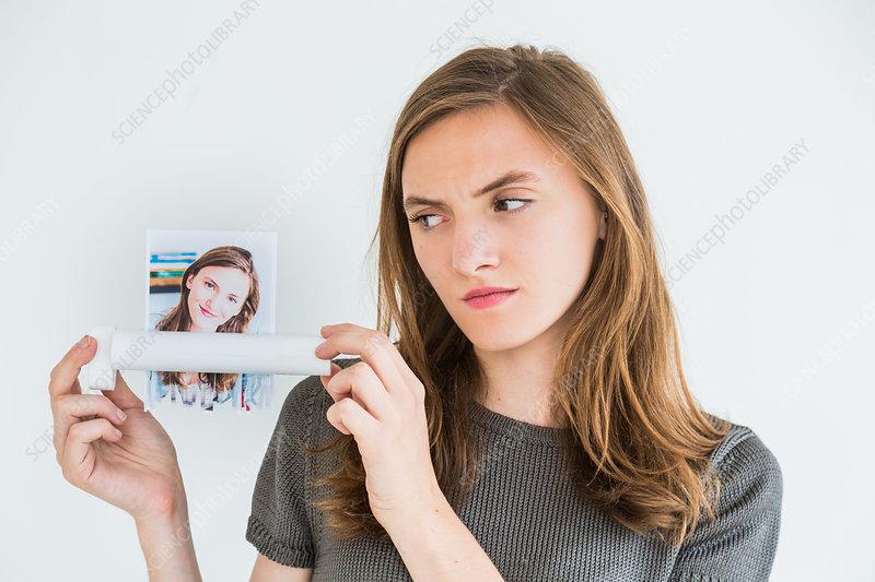 Conceptual image of low self-esteem