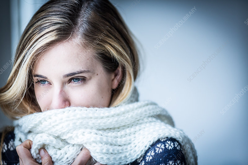 Cold young woman