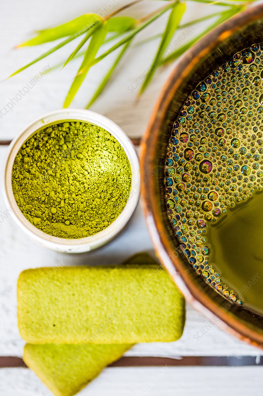 Matcha, powdered Japanese green tea