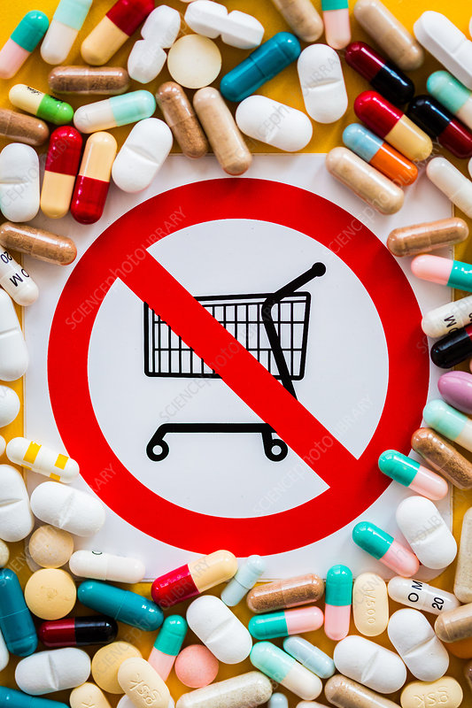 Conceptual image of sale of prohibited drugs