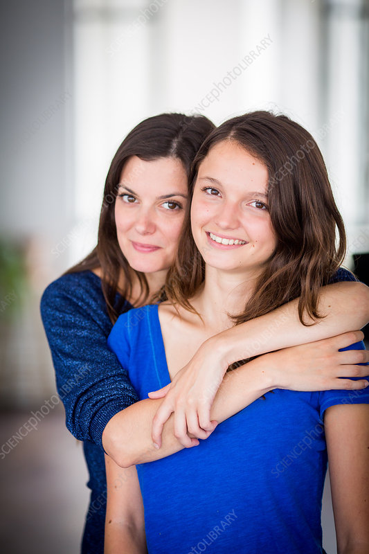 Teenage girl and her mother