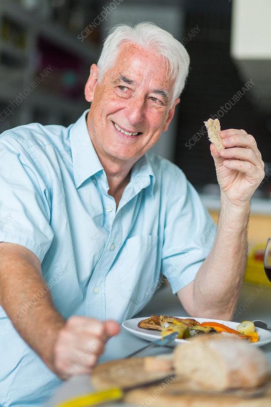 Man having lunch