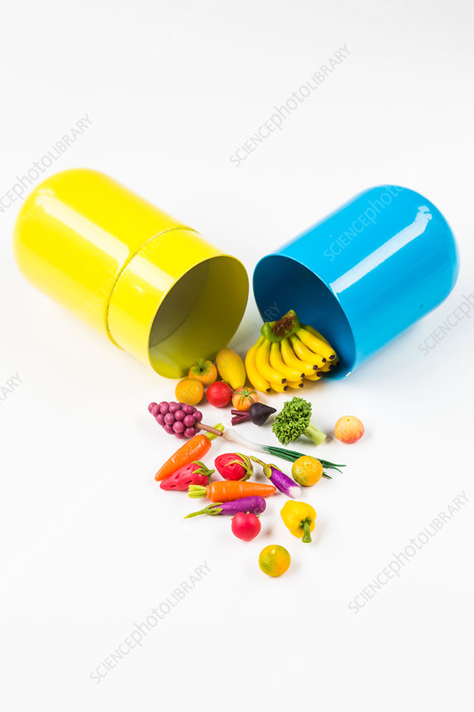 Conceptual image of nutraceuticals