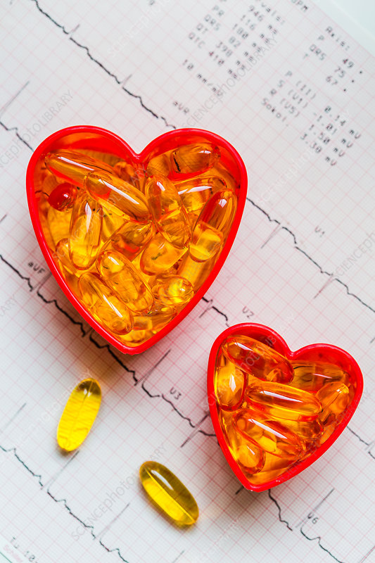 Conceptual image on omega-3 benefits