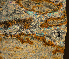 Jasper, polarised light micrograph