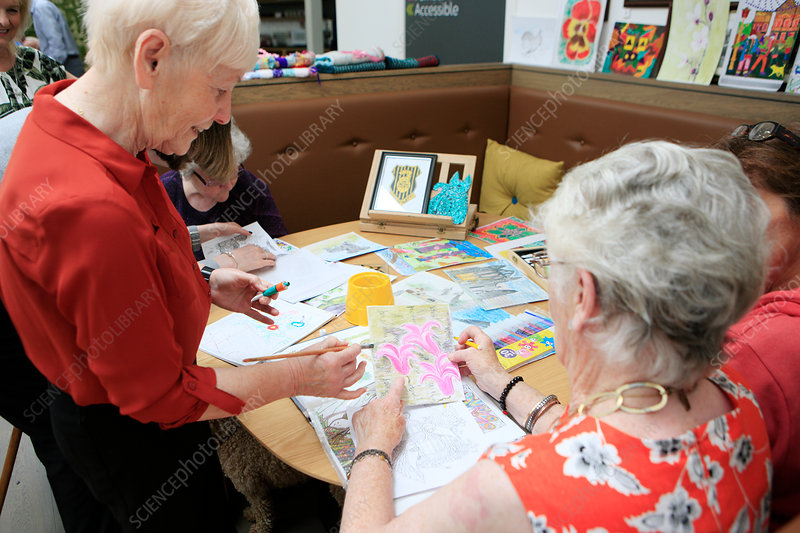 Dementia art therapy group