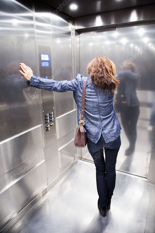 Woman in a lift