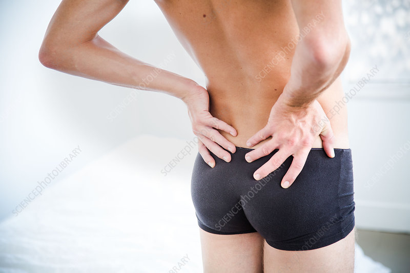 Man suffering from lumbar pain