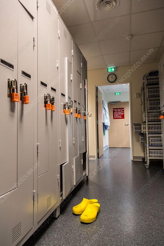Hospital staff cloakroom