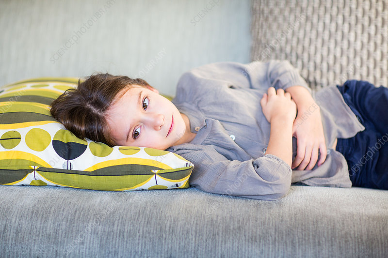 8 year-old girl with stomach pain