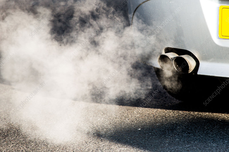 Motor vehicle exhaust gases