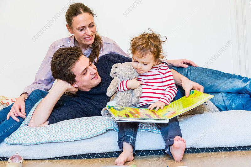 2 year-old boy with his parents