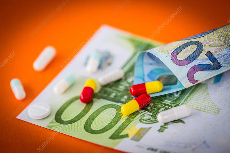 Medicine and banknotes
