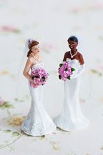 Figurines of a married gay couple