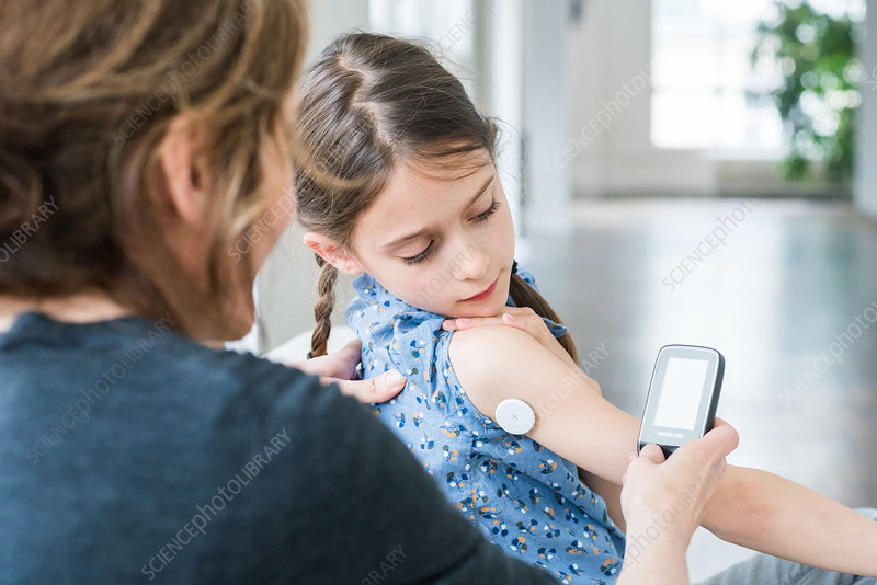 Diabetic child and mother