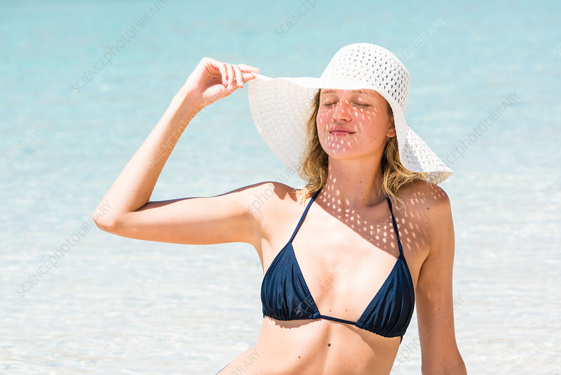 Woman on holiday