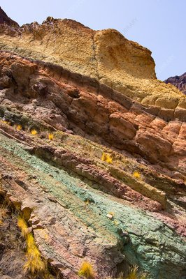 Coloured rocks in Gran Canaria.