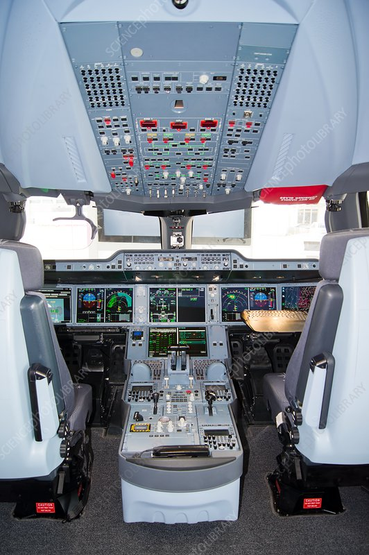 Airbus A350 cockpit.