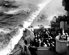 Japanese Kamikaze attack on USS Missouri, 1945