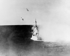 Japanese Kamikaze attack on USS Columbia, 1945