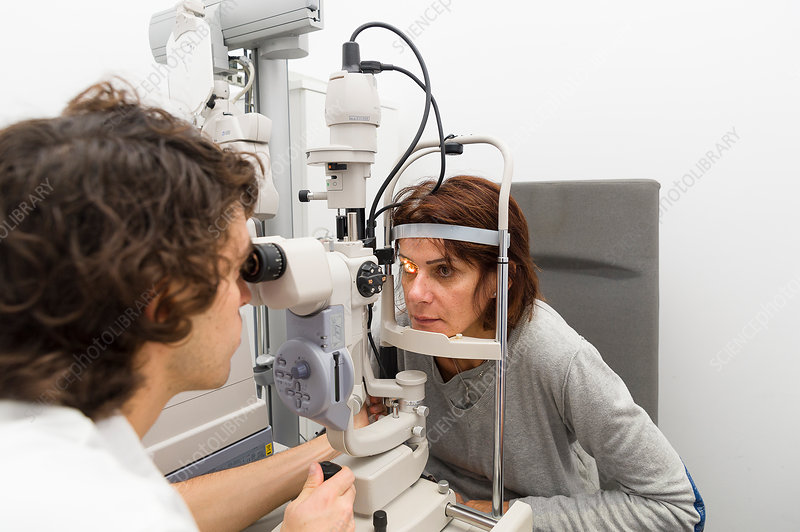 Ophthalmology, woman