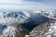 Fjord in southwest Greenland, April 2012