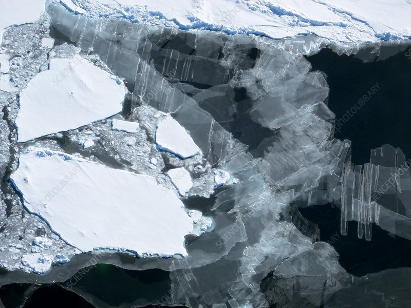 New and old sea ice, Antarctica