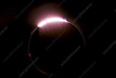 Total solar eclipse, Bailey's beads