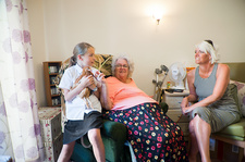 Care home family visit
