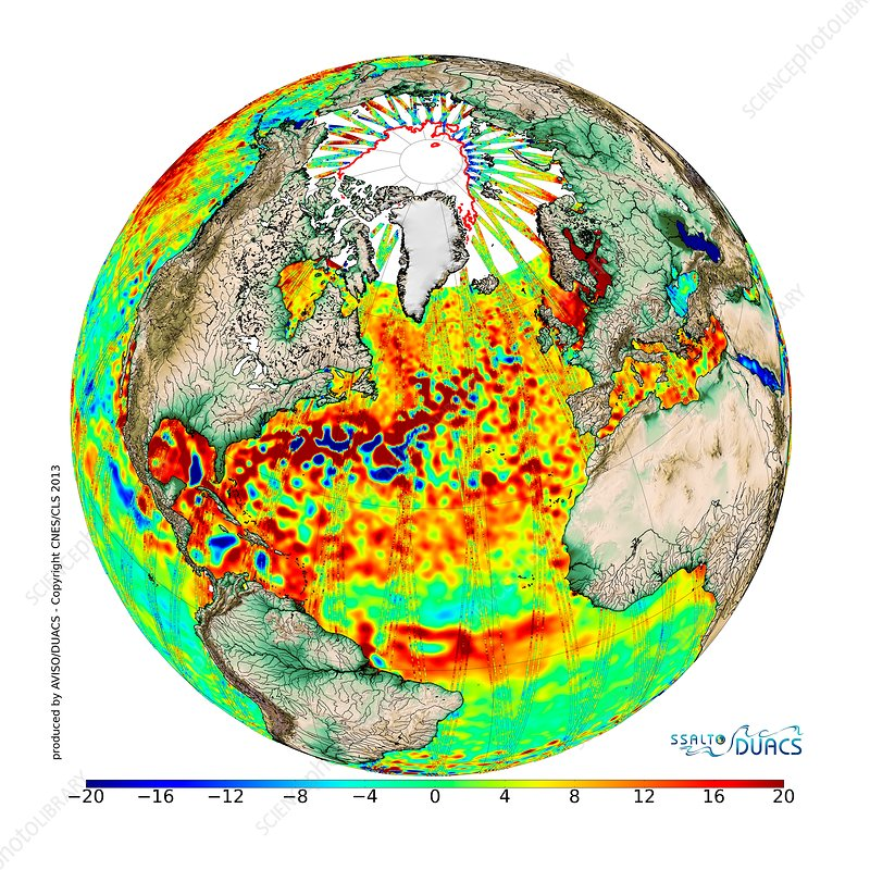 Average sea surface topography, 2013