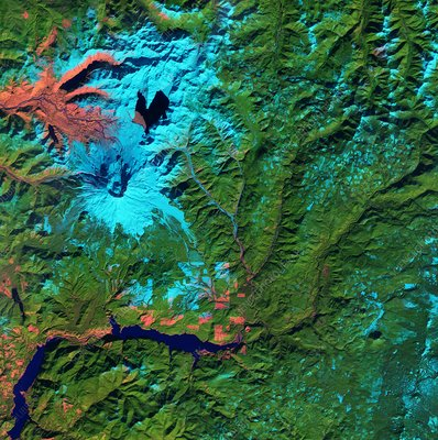 Mount St Helens, USA, satellite image
