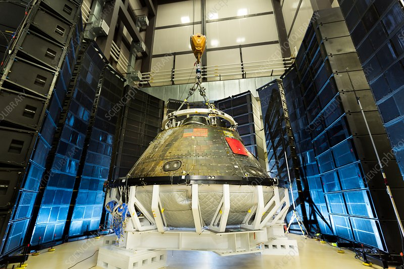 Orion spacecraft post-flight acoustics testing, 2016