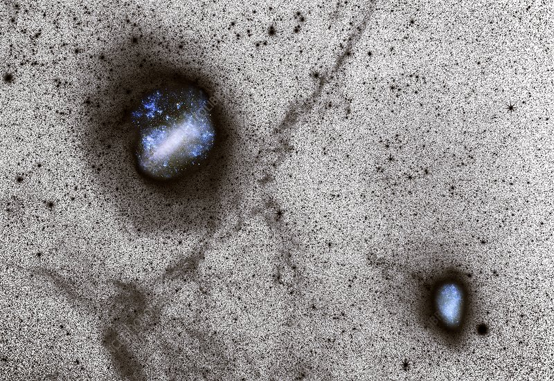 Large and Small Magellanic Clouds, CCD image