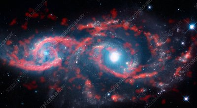 Interacting galaxies, ALMA-HST image