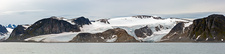 Glacier-covered landscape, Svalbard