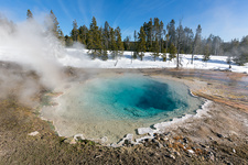Turquoise hot spring