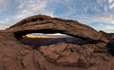 Mesa Arch at sunset, Canyonlands National Park, USA