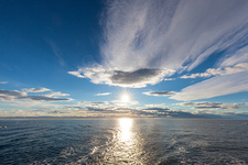 Midnight sun, Barents Sea