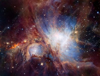 Orion Nebula, infrared image