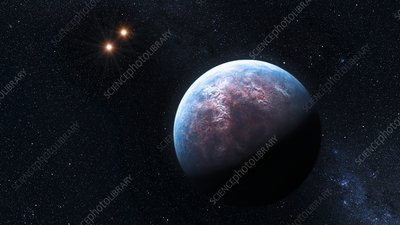 Exoplanet Gliese 667 Cb, illustration